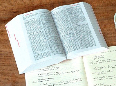 large index book and notebook