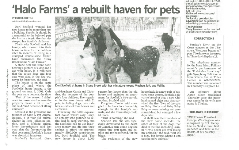 Newsday - Save-A-Pet article