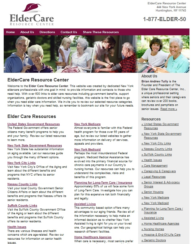 Elder Care Web site