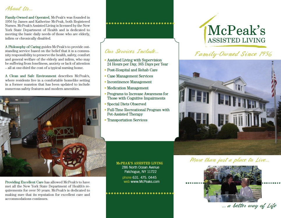 McPeak's Assisted Living - Brochure