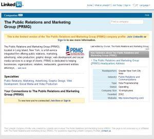 PRMG's LinkedIn Profile
