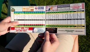 Advertise on Golf Scorecards