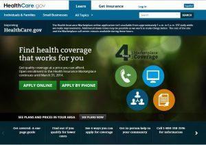 Healthcare.gov screenshot
