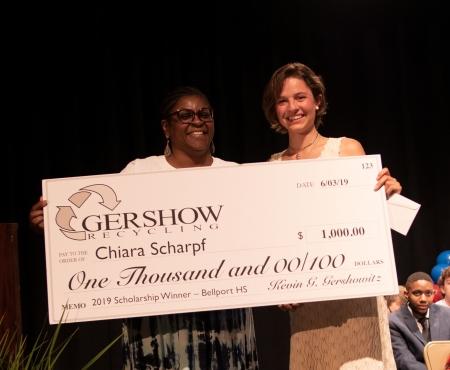 Gershow Recycling Grants Environmental Conservation Scholarship to Bellport High School Graduating Senior Chiara Scharpf