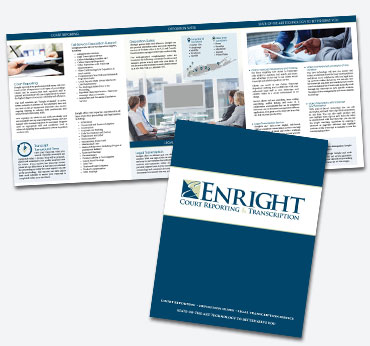 Enright Court Reporting: Oversized Trifold Brochure