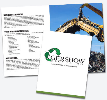Gershow Recycling: 16 Page Booklet Brochure