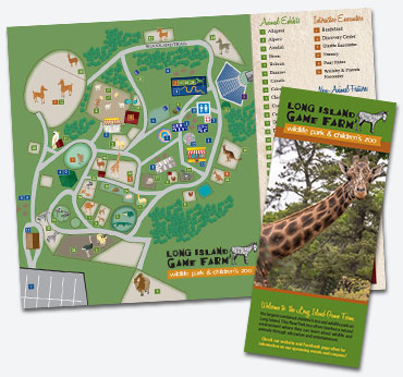Long Island Game Farm: Trifold Brochure