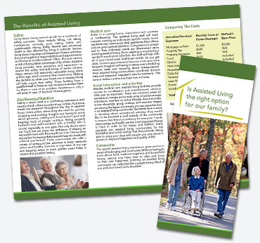 McPeaks Assisted Living: Trifold Brochure