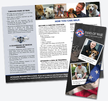 Paws of War: Trifold Brochure