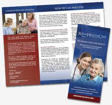 Royal Health Care: Trifold Brochure