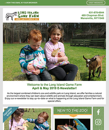 Long Island Game Farm: E-Newsletter