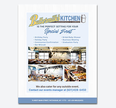 Buttermilks Kitchen: Flier