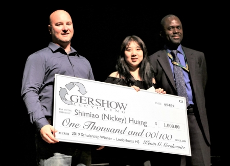 Gershow Recycling Grants Environmental Conservation Scholarship to Lindenhurst High School Graduating Senior Shimiao Huang