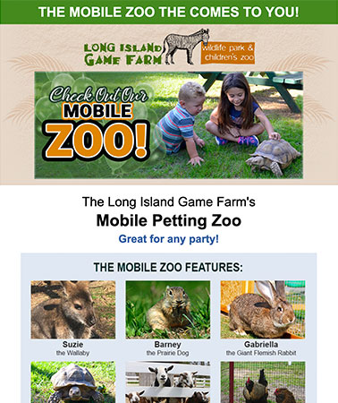 Long Island Game Farm Mobile Zoo: Email