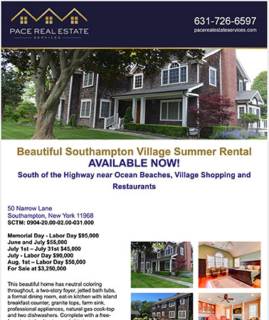 Pace Real Estate: Email