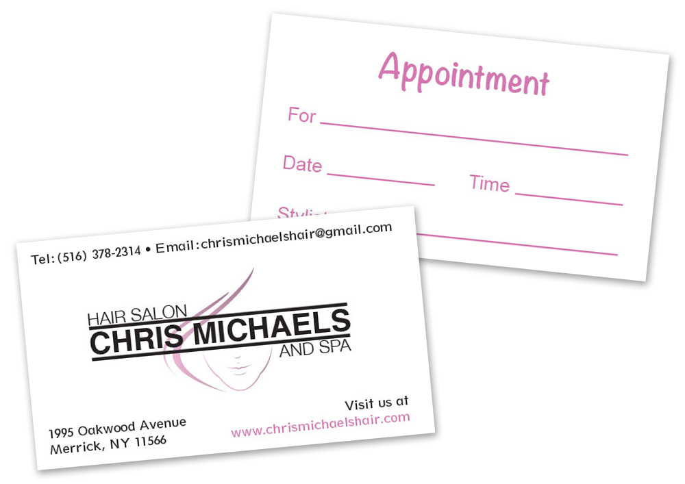 Chris Michaels Salon: Stationery: Business Card