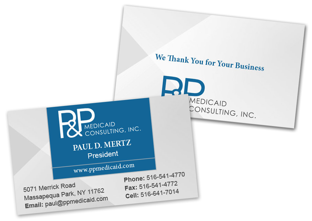 P & P Medicaid: Stationery: Business Card
