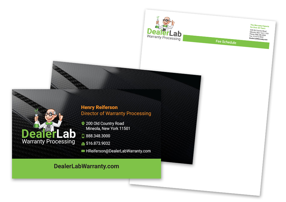 DealerLab: Stationery: Letterhead, Business Card