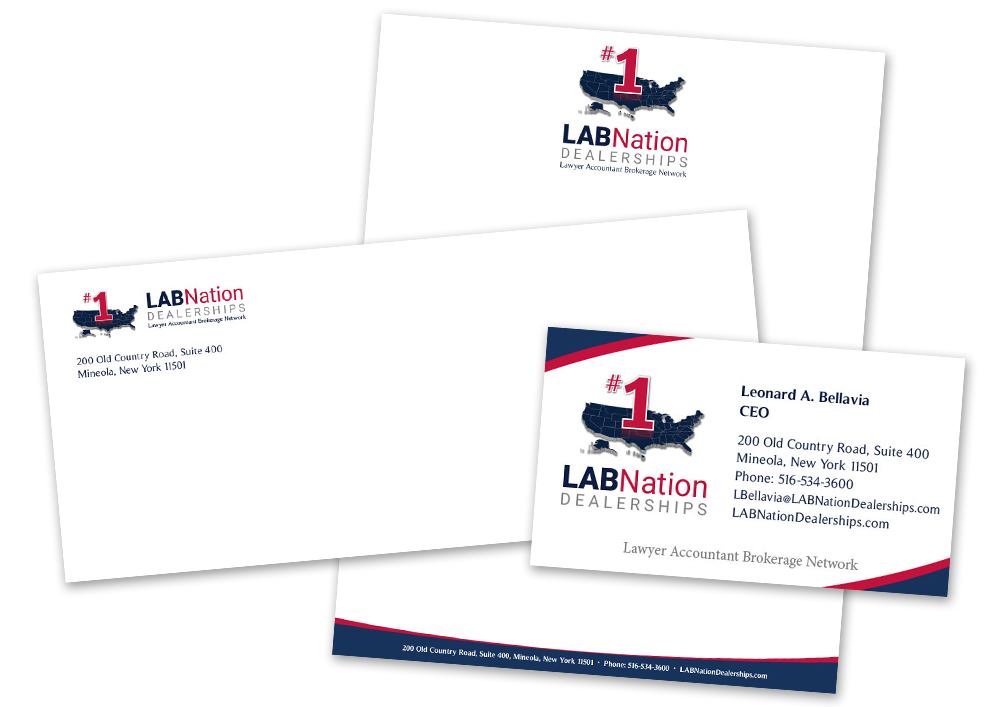 LABNation: Stationery: Letterhead, Business Card, Envelope