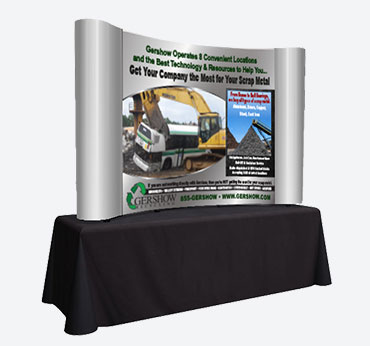 Gershow Recycling: Curved Table Top Display