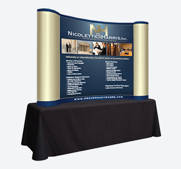 Nicoletti & Harris: Curved Table Top Display