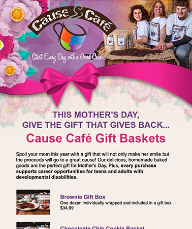 Cause Cafe: Mothers Day Email