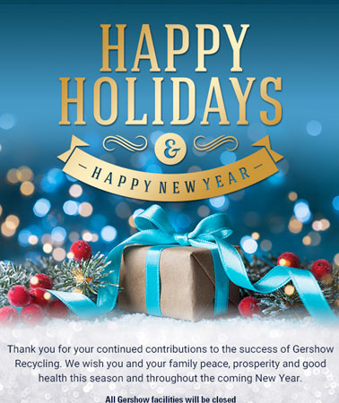 Gershow Recycling: Holidays Email