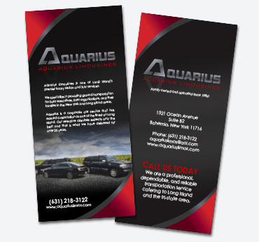 Aquarius Limousines: Rack Card