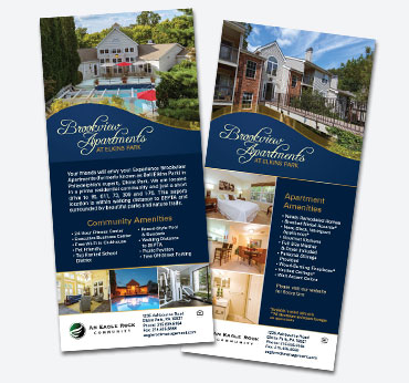 Brookview Apartments: Rack Card