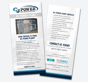 CJ Power Technologies: Rack Card