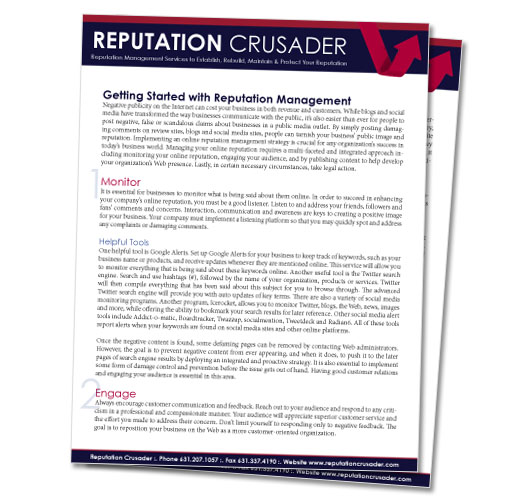 Free Download: Getting Started with Reputation Management