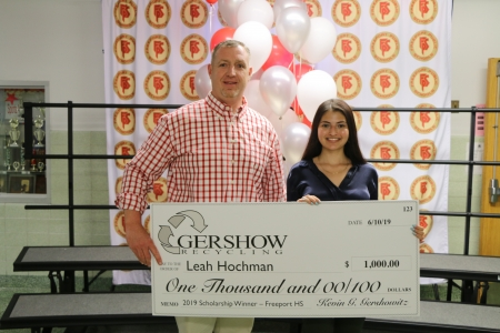 Gershow Recycling Grants Environmental Conservation Scholarship to Freeport High School Graduating Senior Leah Hochman
