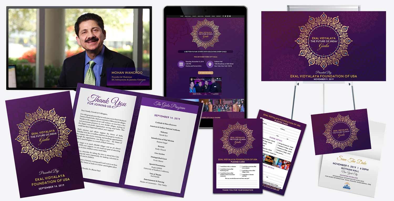 Event Marketing - Ekal Vidyalaya - The Future of India Gala 2019 Marketing Materials